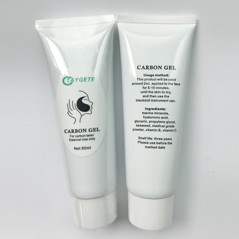 80ml Carbon Cream Gel Face Massage whitening Laser Cream Rejuvenation treatment Active Carbon Gel Extermal Use Skin Care