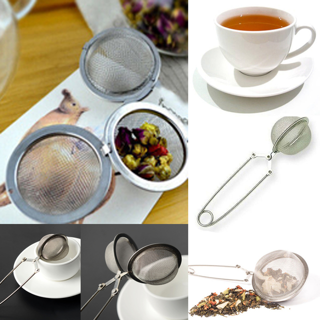 Stainless Steel Tea Bag Squeezer Infuser Filter Strainer Steep Brew Herbal E Ad