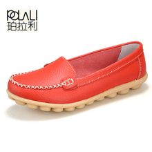 POLALI  New Artificial Leather Women Shoes Causal Soft Woman's Flats Female Moccasins Sapatilhas Femininos  size 35-42