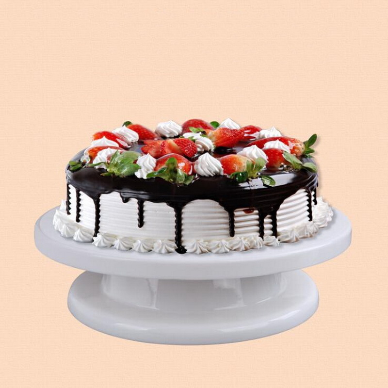 Gewetensvol Cake Base Cake Decorating Gereedschap Roterende Cake Stand Suiker Ambachtelijke Turntable Platform Cupcake Kwartelplaat Revolving Bakken Tools Producten Hot Sale