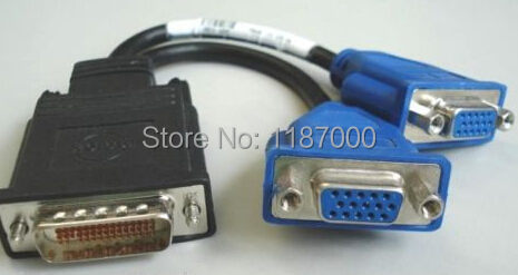 Cable for G9438 DVI 59 pin to Dual VGA well tested working