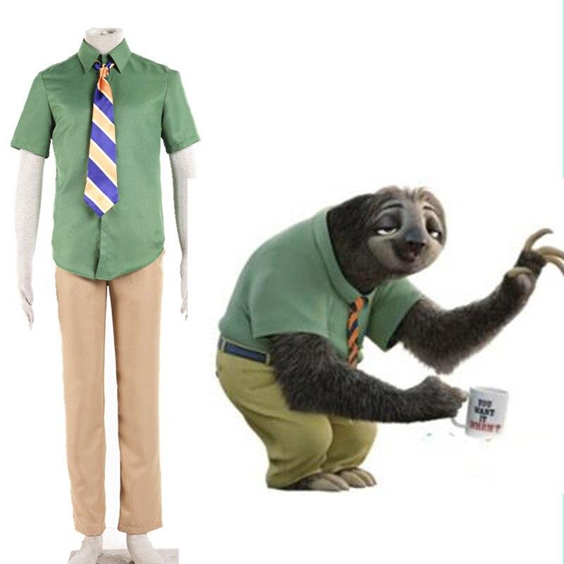 e355433564ac Zootopia Cosplay costume DMV worker Sloths Flash cosplay costume set Flash  Zootopia Halloween costumes new unisex