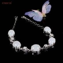 лучшая цена CYNSFJA Real Certified Natural Chinese Hetian White Jade Inlaid 925 Sterling Silver Handmade Women's  Jade Bangle Bracelet High Quality Fine Jewelry Best Gifts