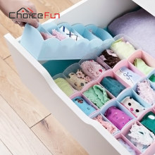 CHOICE FUN Divider Drawer Organizer Storage Bra Box Folding Cases Necktie Socks Underwear Clothing Organizer Container(China)