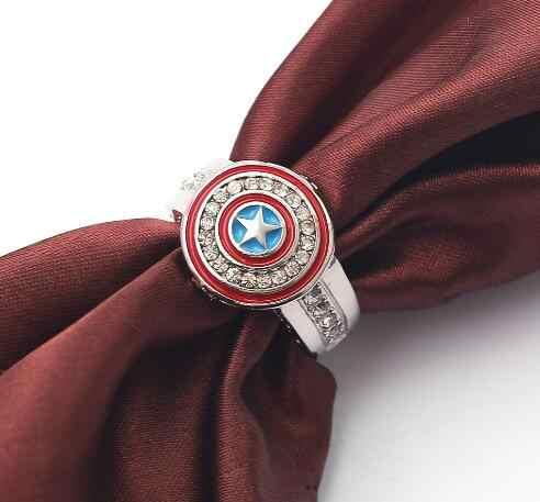 HOT avengers film marvel super-héros anneau mode Captain America bouclier figure anneau jouets pour petite amie cadeau jouet