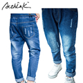 ActhInK Kids Denim Pencil Pants Boys Distressed Jeans Girls Solid Cotton Trousers Kids European Style Fashion Holes Jeans, MC149