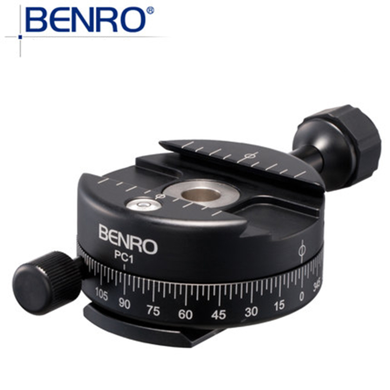 BENRO PC0 PC1 Action Camera Panoramic Tripod Head Aluminum Head For Smartphone Digital Camera With PTZ Precision Extension Knob benro aluminum tripod 3 8 super strong impact resistance horizontal axis camera tripod multifunctional alloy tripod ga169t
