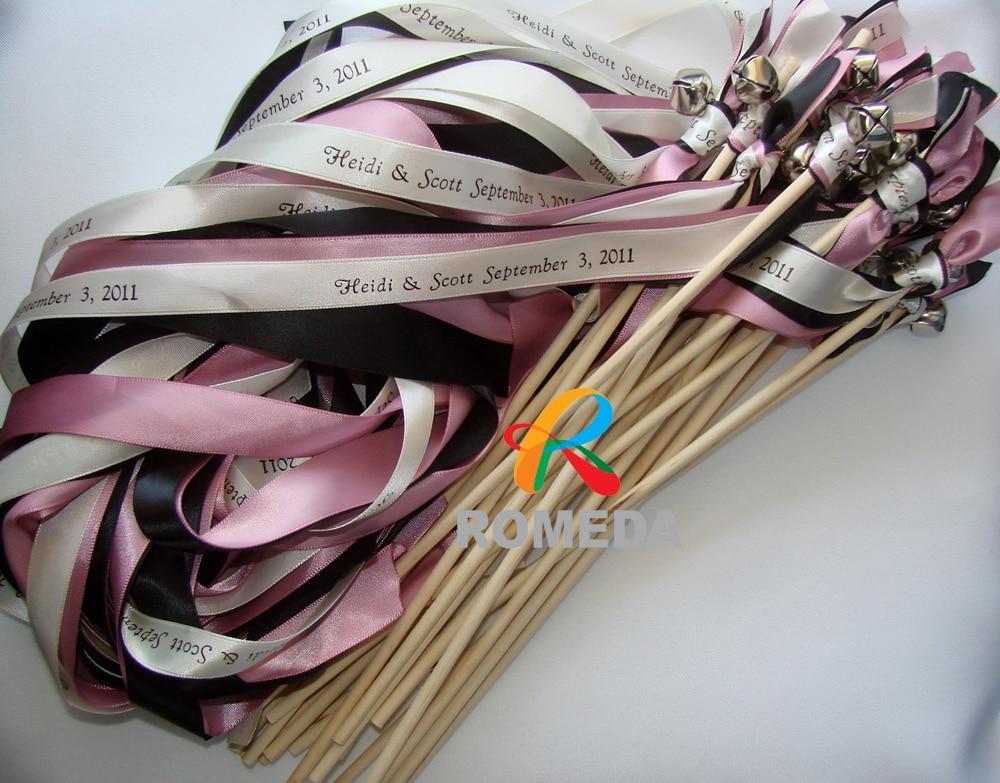 Nombre y fecha de impresión Palillo de cinta de boda / varitas de - Para fiestas y celebraciones - foto 1