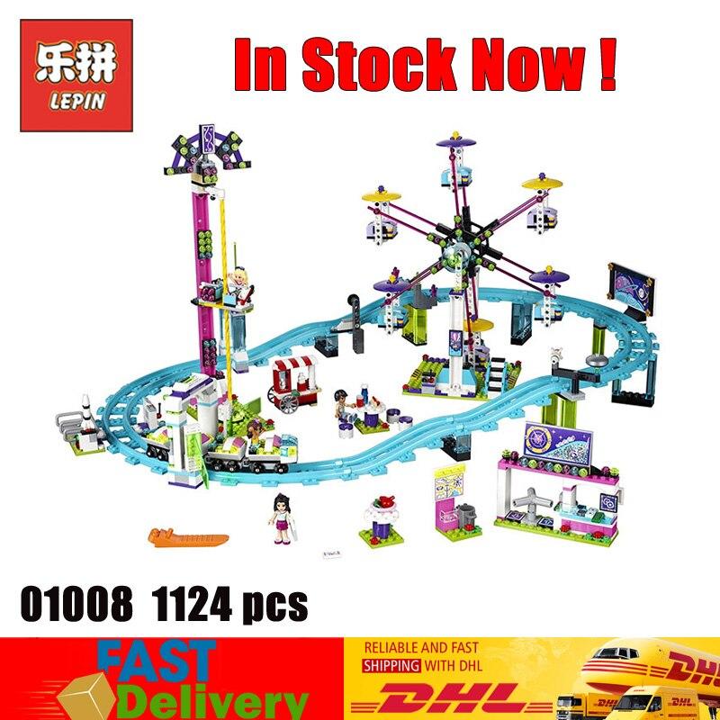 Lepin 01008 1024 Pcs Model Girls Friend Amusement Park 3D bricks Blocks Toys Compatible LegoINGlys 41130 все цены