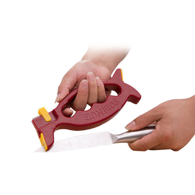 Safe Knife Sharpener Scissors Grinder Secure Kitchen Sharpening Tools Whole Bulk Lots Accessories Supplies Products