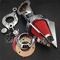 Cono Aire Spike Limpiador de piezas de la motocicleta para Harley Davidson 1991-2006 XL modelos sportstar cromo