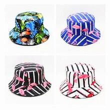 LDSLYJR,, фламинго, животный принт, Панама, шляпа рыбака, уличная, для путешествий, шляпа от солнца, шапки для мужчин и женщин, 274