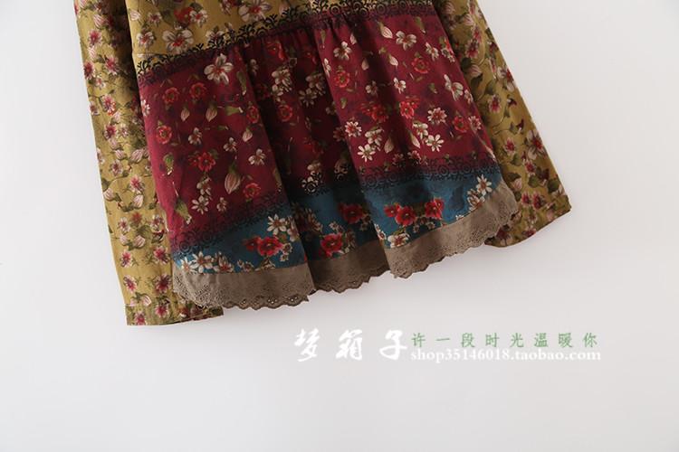 408eef7cb750 Mori Girl Hippie Boho Bohemian Retro Vintage Floral Loose Long ...