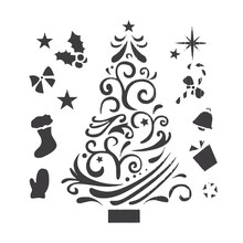 1PC DIY Christmas and Deer Pattern Painting Template Bullet Journal Stencil Set Scrapbooking DIY Cards(China)