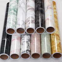 PVC Marble Mural Self adhesive Wallpaper Roll Bathroom Kitchen Paper Waterproof Wall Paper Living Room Decor 1.22m x 50m