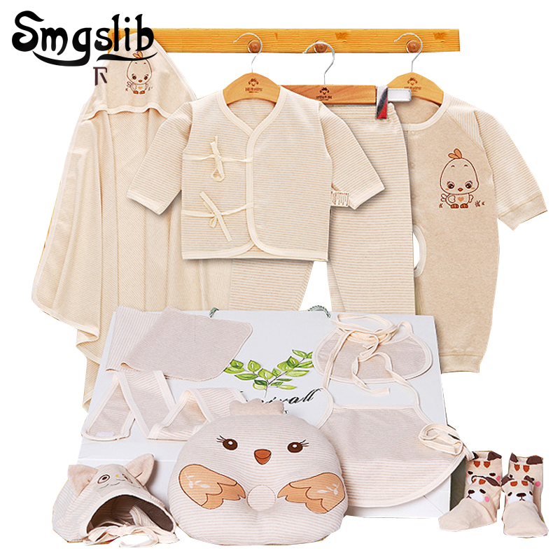 Smgslib New born baby clothes 8/11Pcs/set Cotton newborn girl clothes Long Sleeve Autumn/Spring baby outfits Clothing Sets baby clothing summer infant newborn baby romper short sleeve girl boys jumpsuit new born baby clothes