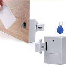IC Card Sensor Digital RFID Drawer Card Lock DIY Electronic Cabinet Lock, Battery RFID Card Invisible Hidden Drawer Locker Lock цена и фото