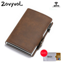 ZOVYVOL Business Unisex Luxury Card CaseNew RFID Holder Slim Suitcase Vintage Wallet Anti-theft Drop-shipping