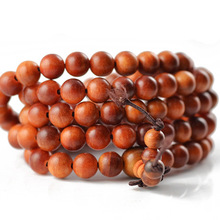 Authentic India Blood Dragon Wood  Beads Tibetan Buddhist 108 Prayer Beads Necklace Gourd mala Prayer Bracelet for Meditation