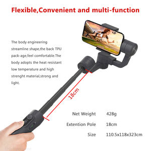 Image 2 - Feiyutech Vimble 2 3 Axis Gimbal Smartphone Stabilizer gimbal with extender pole for iPhone X XS 8 7 6 PK freevision vilta m