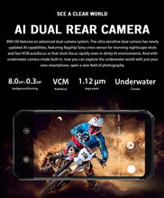 Blackview BV6100 Android 9.0 Cellphone 6.8″ Big Screen Smartphone IP68 Waterproof MT6761 Octa Core 3GB+16GB 5580mAh Battery  NFC