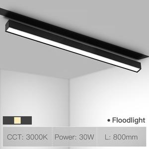 Image 5 - SCON sıcak satış 90 derece hareketli projektör lineer aydınlatma armatürü manyetik kanal