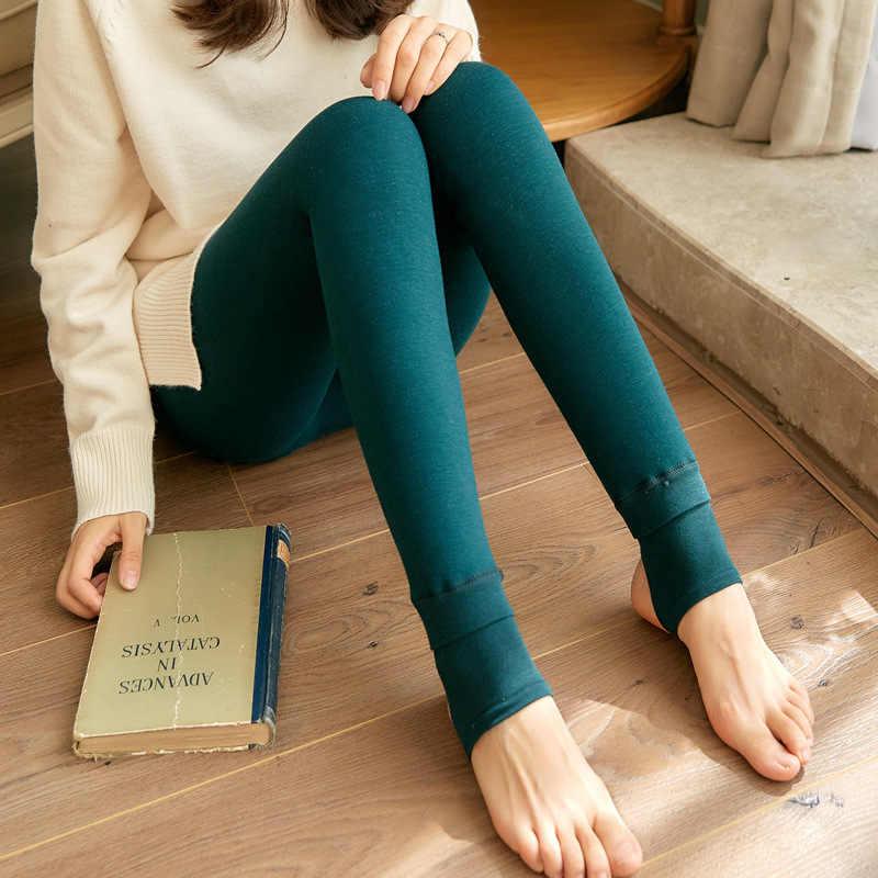 f291130b765c ... Warm Leggings For Women Winter Pants Plus Thick Warmer Fleece Velvet  Lined Leggins High Waist Slim