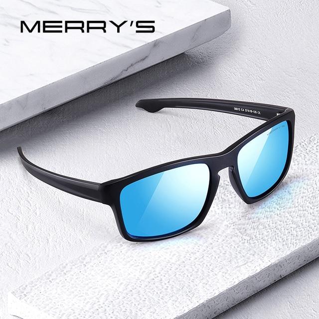 MERRYS дизайн мужские классические Поляризованные солнцезащитные очки мужские спортивные рыбацкие оттенки Spuare зеркальные очки UV400 защита S3012