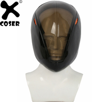 XCOSER Tron Rinzler Black Full Head Helmet Game Cosplay Mask Festival Holiday Party Cosplay Helmet Props Costume Accessories