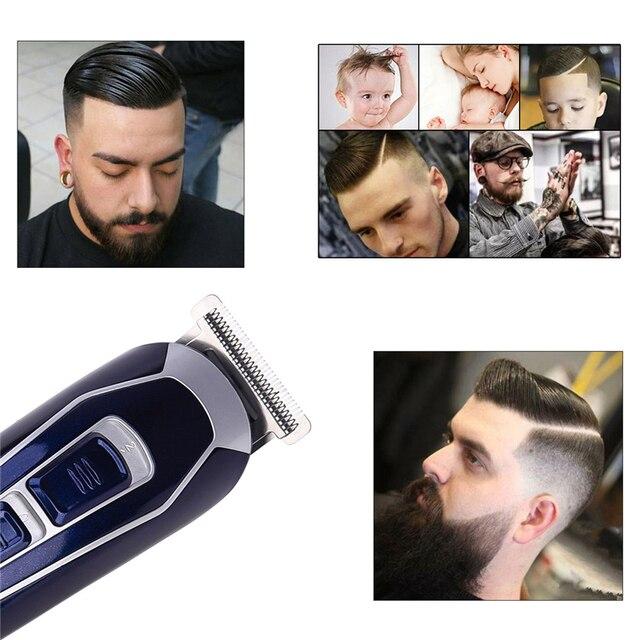 Electric Hair Clipper Rechargeable Low Noise Hair Trimmer Hair Cutting Machine Beard Shaver Trimer For Men Barber Hair Shaving 2