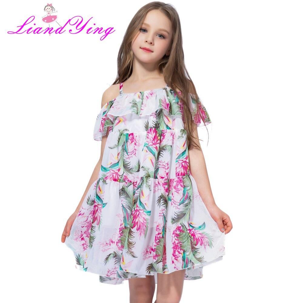 Böhmen Kinder Kleid Mädchen Sommer Floral Party Kleider Kleinkind Kleidung Kinder Mädchen Banana Blatt Kleid Für Baby