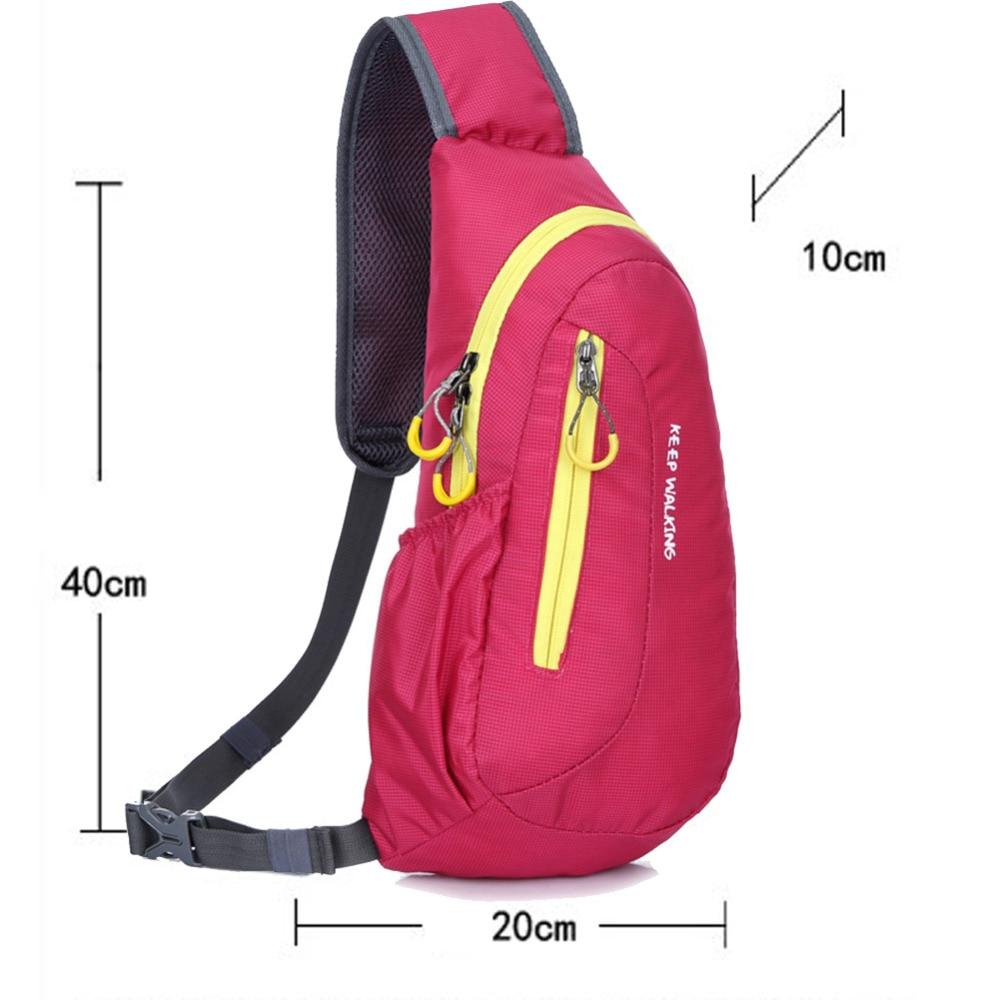 Фирменная Новинка унисекс Водонепроницаемый нейлон Грудь сумка Для мужчин Для женщин Бег сумка диагональ открытый спортивная сумка мешки де курс