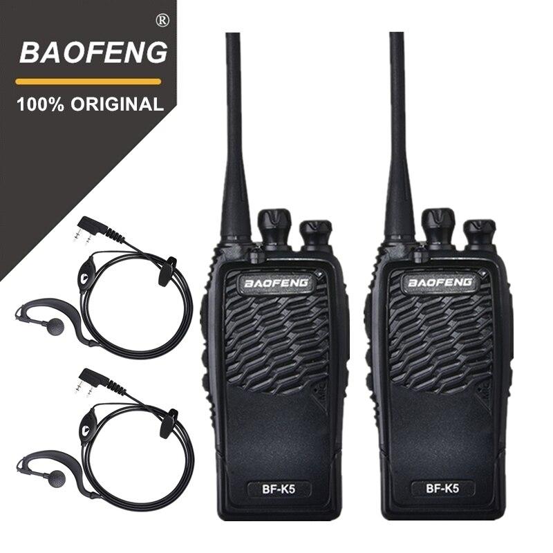 2 PCS 100% D'origine Baofeng Radio Comunicador BF-K5 Talkie Walkie Hôtel De Poche Émetteur-Récepteur Radio Cb K5 Jambon Radio Woki Toki