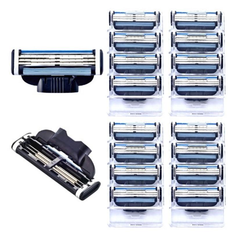 16pcs/pack Men's Safety Razor Blades Face Care Shaving Blades Manual Shaving Cassette For Gillettee Mache 3