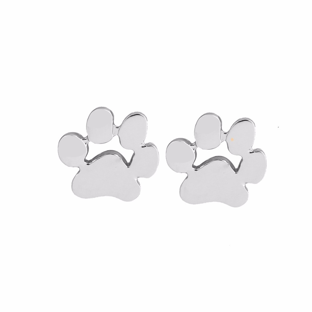 Cute Cat And Dog Paw Stud Earrings - Je11*