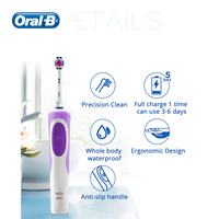 Authentic Oralo B Electric Toothbrush With 3D Withen Replacement Brush Head Inductive Charge