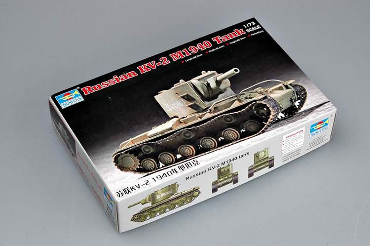 1:72 World War II 1940 KV-2 Soviet Tank Military assembly model armored military vehicles 07235