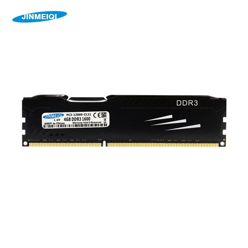 JINMEIQI DDR3 8GB 1866 1600 3 DDR ram Memória Desktop com Dissipador de Calor pc 4GB 1333MHz dimm