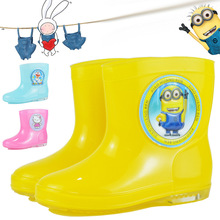 2017 all seasons new fashion men and women children's rain shoes cartoon non-slip short tube student water shoes kids shoes boot