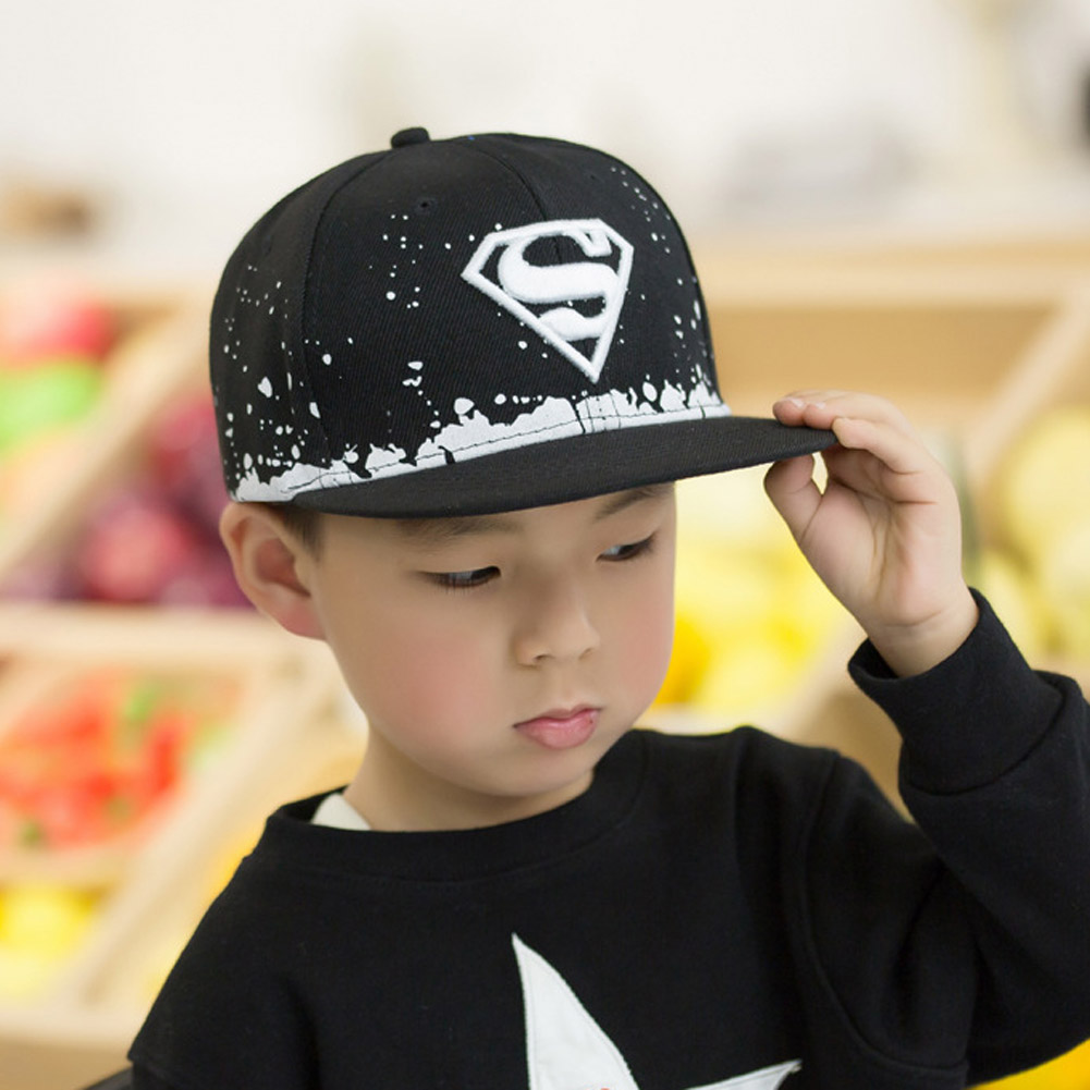 5e01cc4d6c450 New Superman The Boys Baseball Cap hip hop cap snapback hat children s 3 10  years old boys and girls flat brimmed hat gorras-in Hats   Caps from Mother  ...