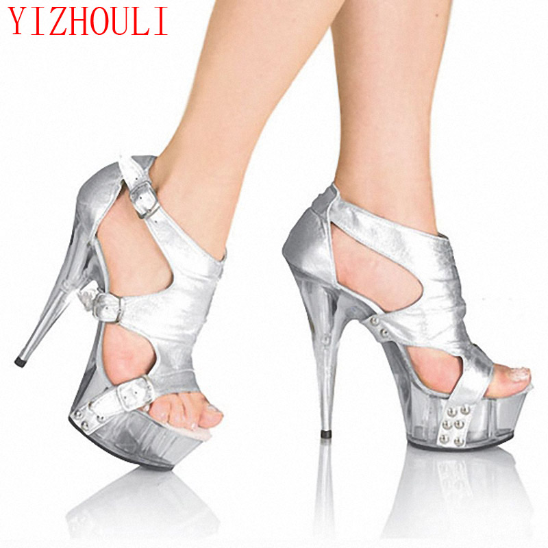 Office & School Supplies Learned New Arrived Hot Neon Color 15cm Ultra High Heel Sandals /sexy Party Dancing Heels/summer Women Dance Shoes