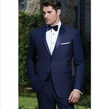 2016 new arrive wedding tuxedo blue groom wear prom custom made suits men suit