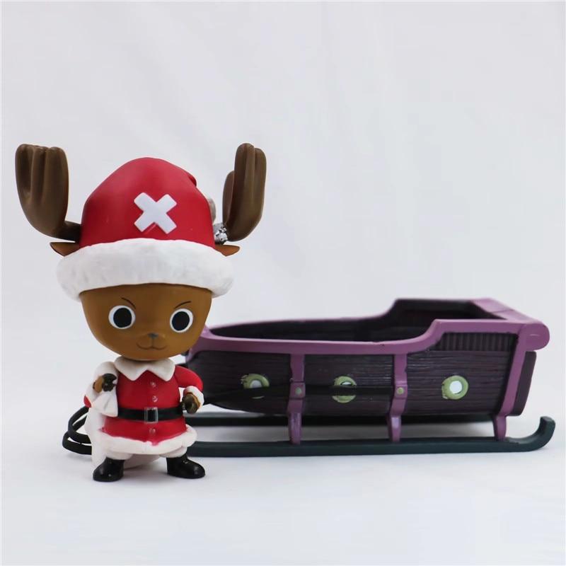 New Christmas One Piece Chopper Action Figure Toys Kawaii Anime Xmas Sled Chopper Figuras Dolls Brinquedos Gift 10cm  (19)