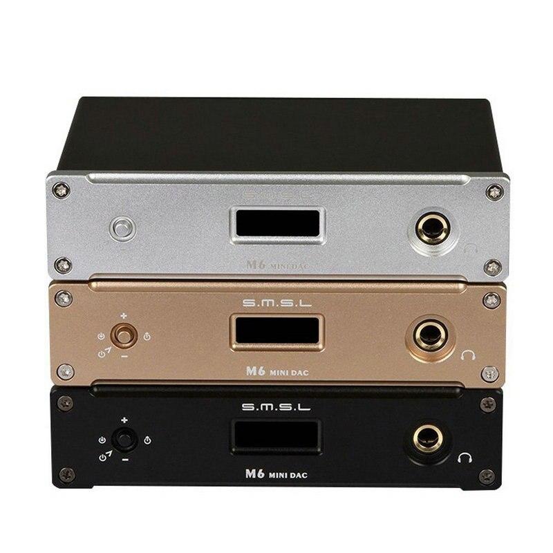 Ancien SMSL M6 Hi-Fi DAC AK4452 natif DSD512 PCM 32bit/768 khzDigital à convertisseur analogique avec ampli casque RCA 6.35mm sortie Jack