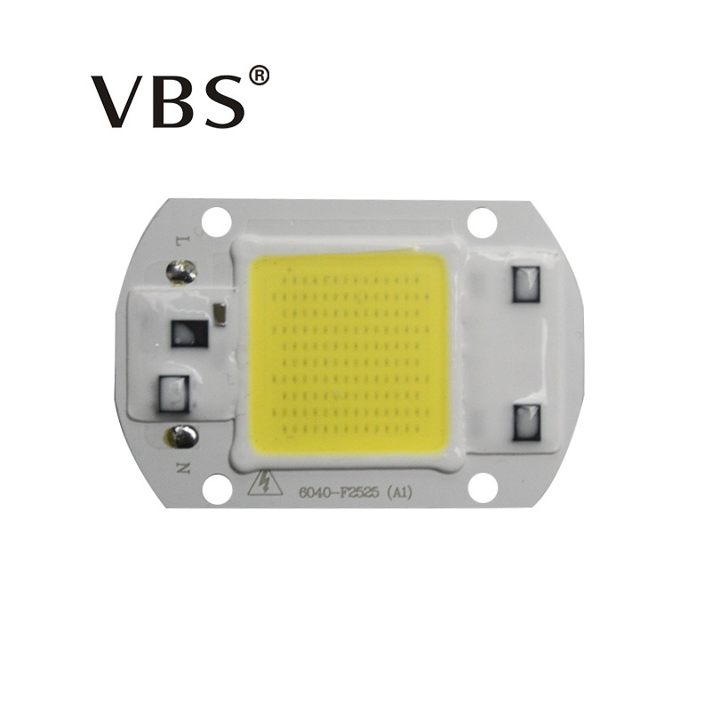 High Power Integrated Chip Lamp Beads 20W 30W 50W LED Flood Light Chip 2000LM- 5000LM LED Floodlight Cob Chip Warm/Cold White 20w 2000lm 6000k cob led white light module silver yellow 32 36v