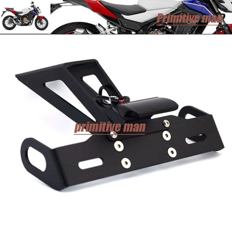 Motorcycle Tail Tidy Fender Eliminator Registration License Plate Holder with LED Light For HONDA CB500F CBR500R 2016-2017 motorcycle tail tidy fender eliminator registration license plate holder bracket led light for ducati panigale 899 free shipping