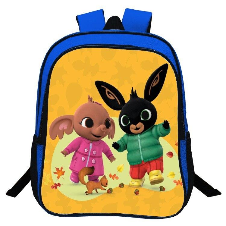 Anime Bing Bunny Print Backpack School Boys Girls Children Book Bag Cartoon Baby Girl Backpack Cartoon Enfant Kindergarten Bag