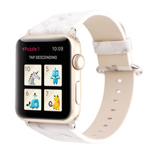 Suitable for Apple Watch Leather Strap Multicolor Hot New 3 Generation Marble