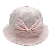 Kids Girls Bowknot Pearl Hat New Baby Bucket Sun Children Summer Panama Floral Hollow Caps Baby Girls Fisherman Hat #D6(China)