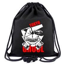 Tokyo Ghoul Drawstring Pocket Bags Kawaii Bolasa Black Fashion School  Canvas Bag Backpacks For Mens Gifts Unisex 40cmCARTOON b5e0b7ab99